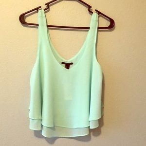 NWT Forever21 Ruffle Crop Tank Top